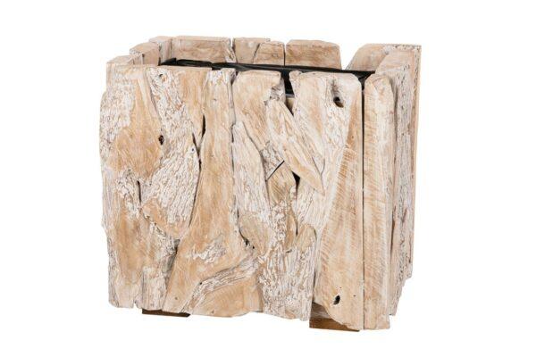 Plantenbak Erosion Wood 58x38x50cm- white wash 1