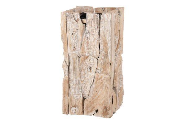 Plantenbak Erosion Wood 38x38x78cm- white wash 1