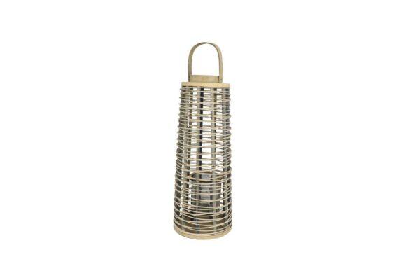 Windlicht bamboe - naturel 1