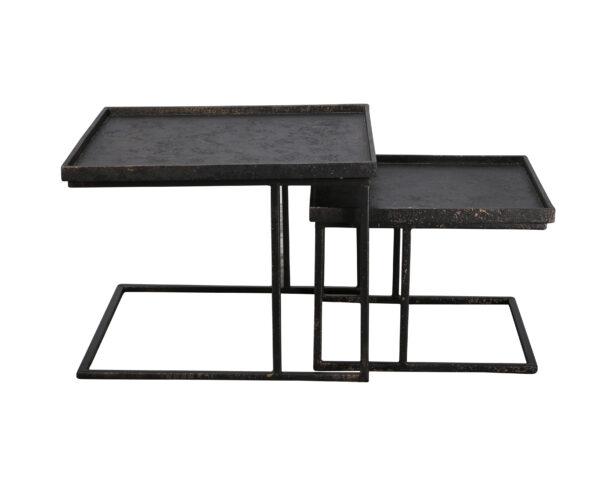 Salontafelset vierkant metallic set/2 3
