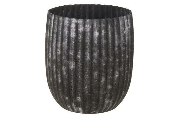 Planter metaal 'Grey' 1