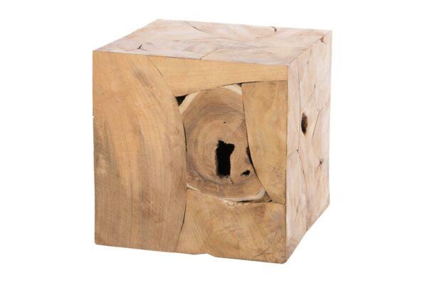 Hocker teak kubus 1