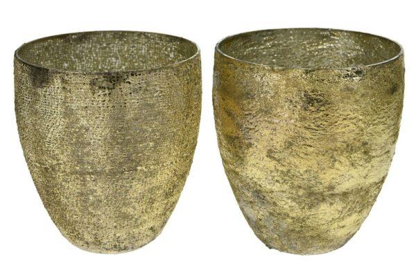 Theelichthouder 'Cone' glas 1