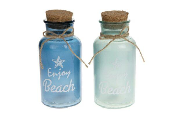 Glazen 'Beach' fles 1