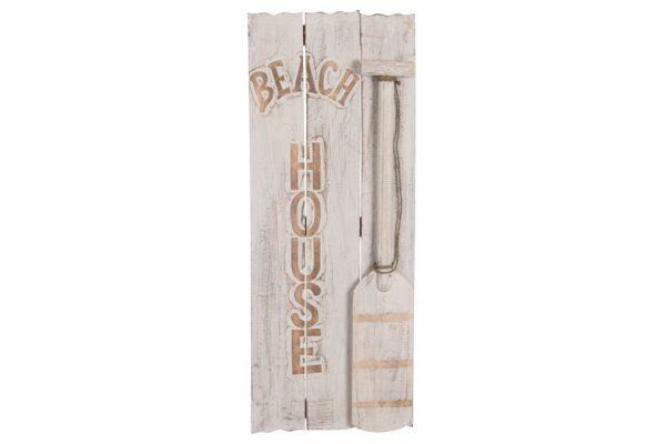 Wanddecoratie 'Beach-house' hout 1