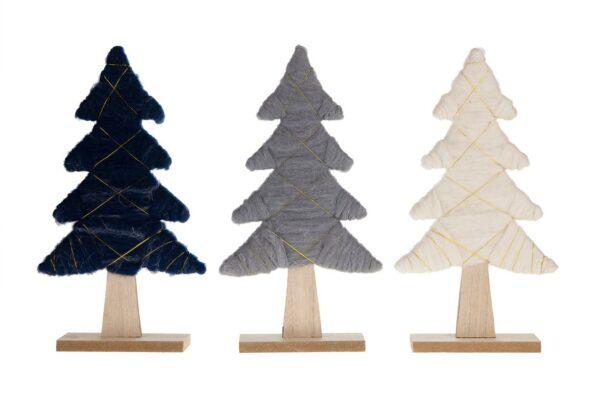 Kerstboompje stof en hout 1