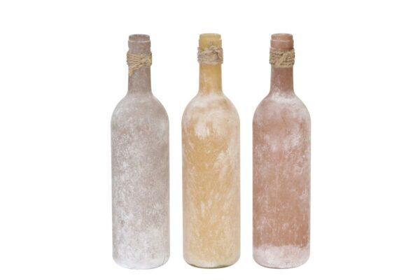 Fles frosted met juten koordje 1