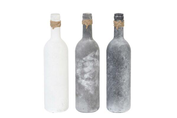 Fles frosted met juten koordje 2