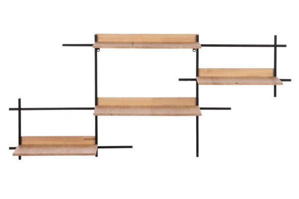 Wandrek metaal-hout 1