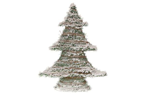 Kerstboom rattan met LED-verlichting 1