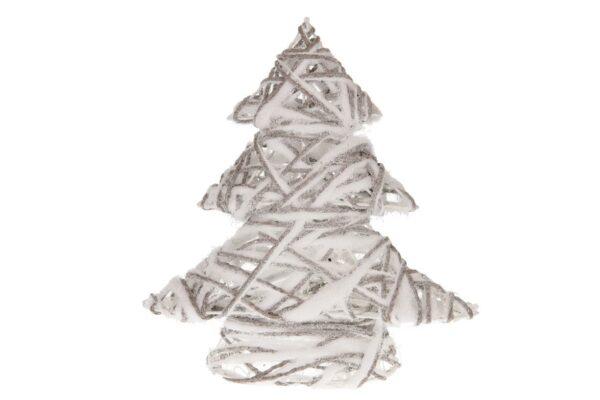 Kerstboom rattan-stof met LED-verlichting 1