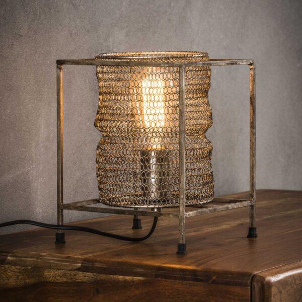 Tafellamp vierkant mesh 1