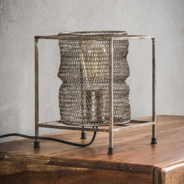 Tafellamp vierkant mesh 2