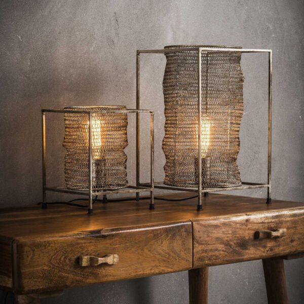 Tafellamp vierkant mesh 3