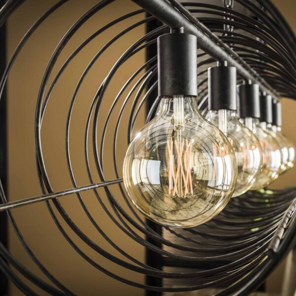 Hanglamp 5L spiraal 28 cilinder 4
