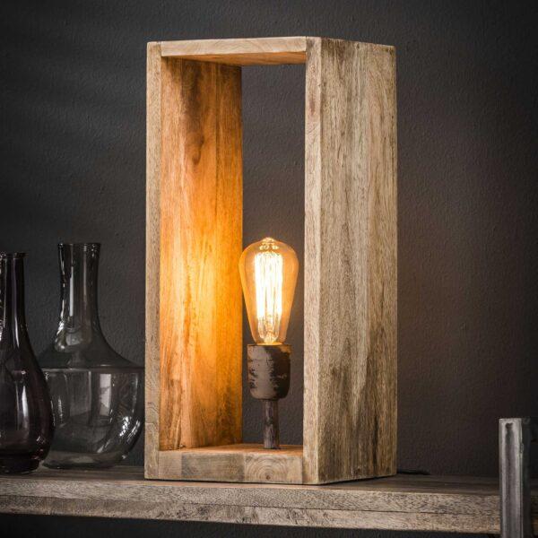 Tafellamp houten rechthoek 1