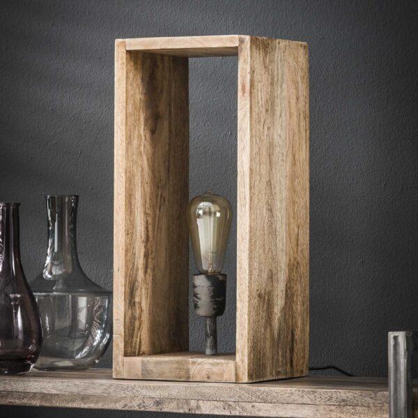 Tafellamp houten rechthoek 2