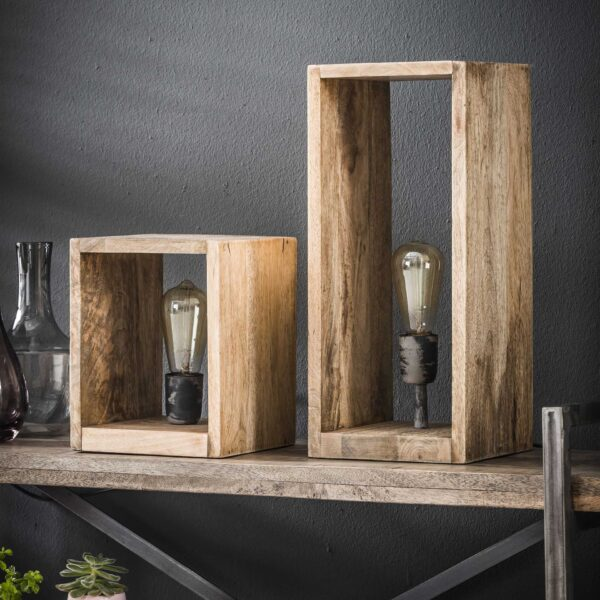 Tafellamp houten rechthoek 4