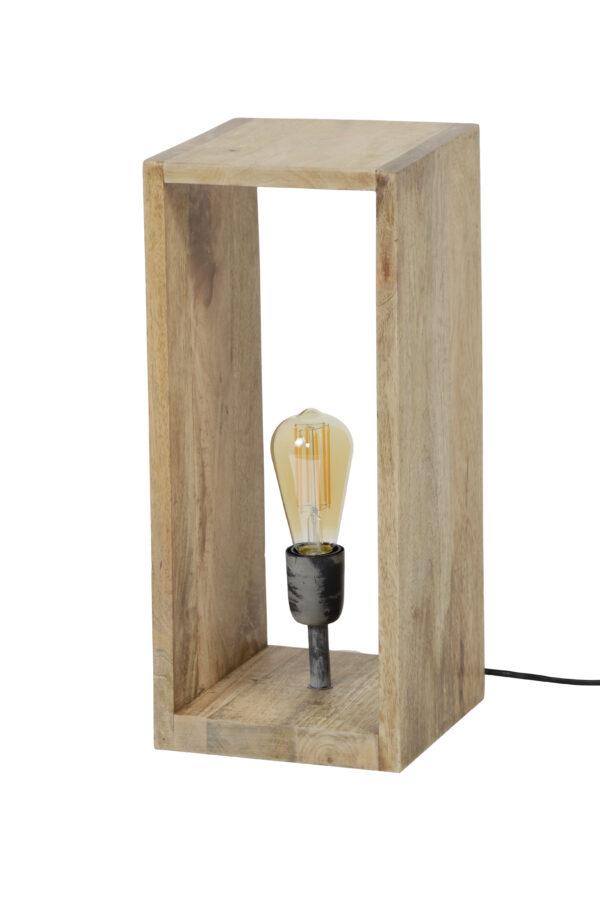 Tafellamp houten vierkant 5