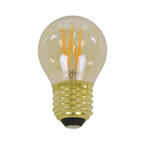 Lichtbron LED filament bol 4,5cm 1