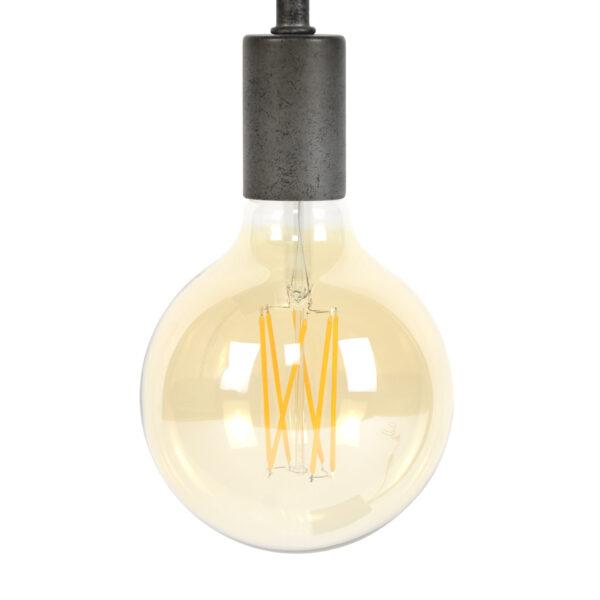 Lichtbron LED retro filament bol 9,5cm 4
