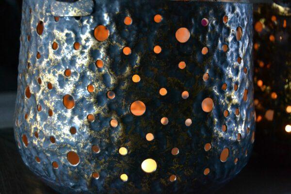 Lantaarn metaal 'Rusty-Black' 3