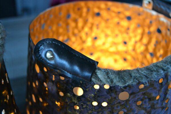 Lantaarn metaal 'Rusty-Black' 6