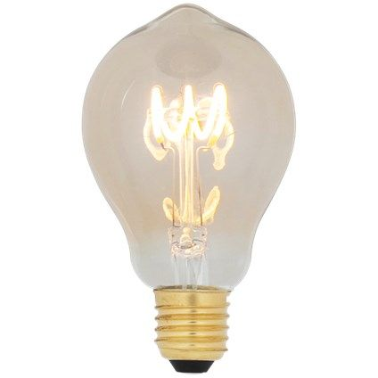 Lichtbron LED retro filament bol 6cm 1