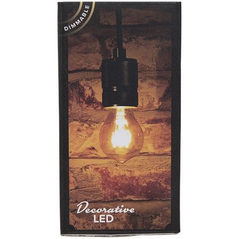 Lichtbron LED retro filament bol 6cm 3