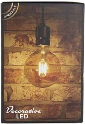 Lichtbron LED retro filament bol 9,5cm 3
